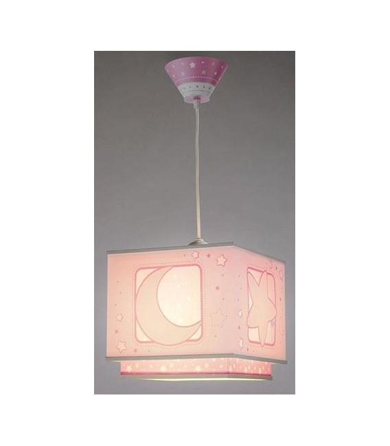 COLGANTE INFANTIL MOON LIGHT ROSA DALBER REF: 63232S
