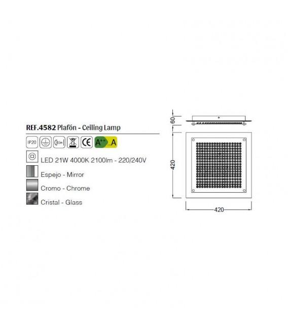 CRYSTAL LED MIRROR REF: 4582